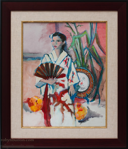 Japanese Girl by Anne Irons(Hawaiian Painting/Drawing)