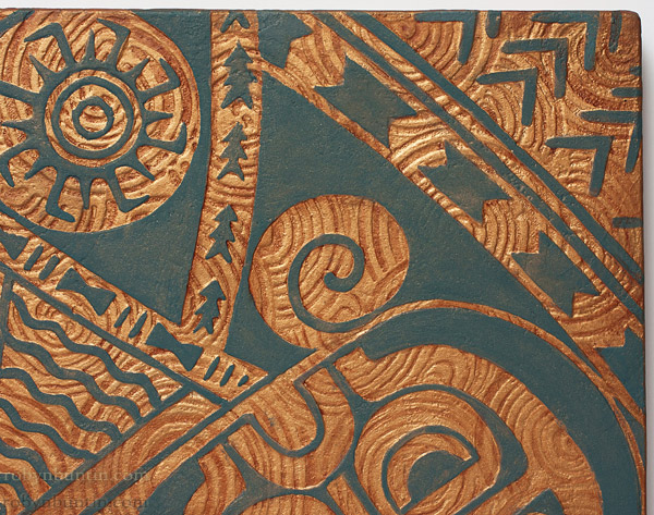 Petroglyph & Tattoo Panel V by Georg James & John Dinsmore(Hawaiian Painting/Drawing)