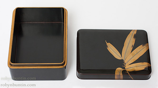 Bamboo Leaf Lacquer Box(Japanese Lacquer)