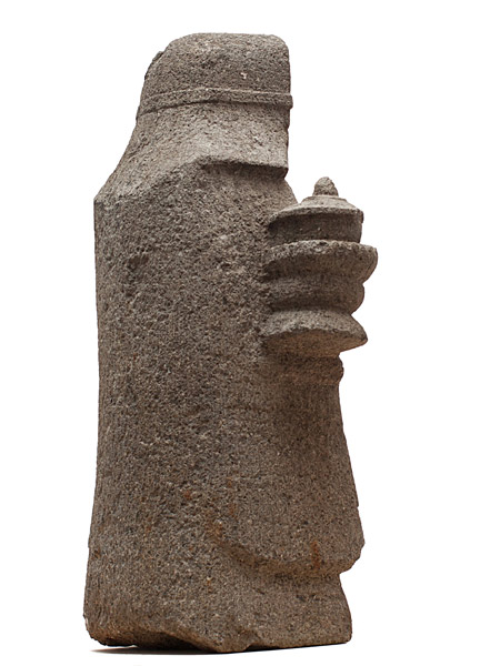 Monk Carrying a Lamp(Japanese Sculpture)