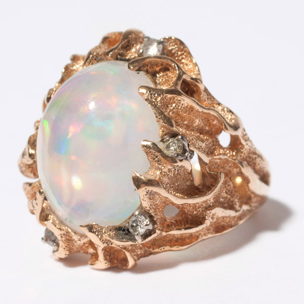 Interlude Opal & Diamond Ring(Chinese Jewelry)