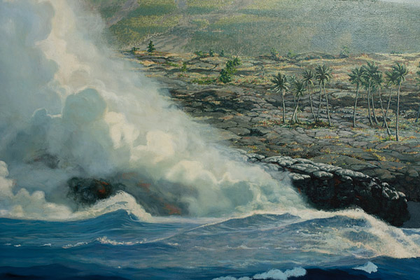 Seacoast by Edwin Kayton(Hawaiian Painting/Drawing)