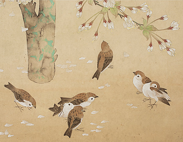 Bird & Cherry Blossoms(Chinese Painting/Drawing)