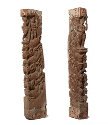 Pair of Nepalese Architectural Pieces