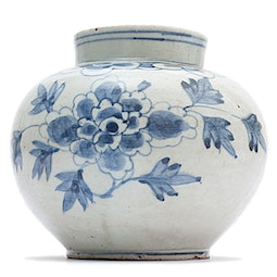 Blue & White Export Vase