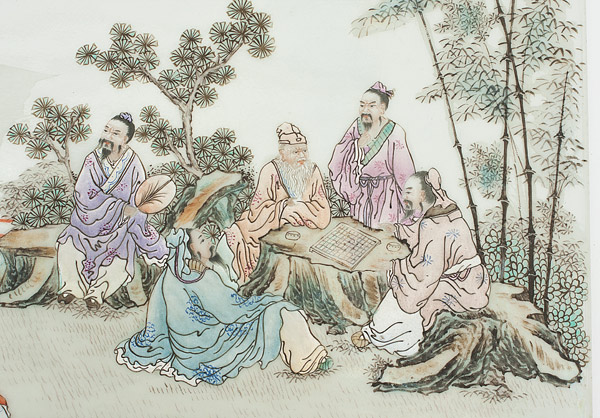 Seven Sages in Bamboo Grove(Chinese Painting/Drawing)