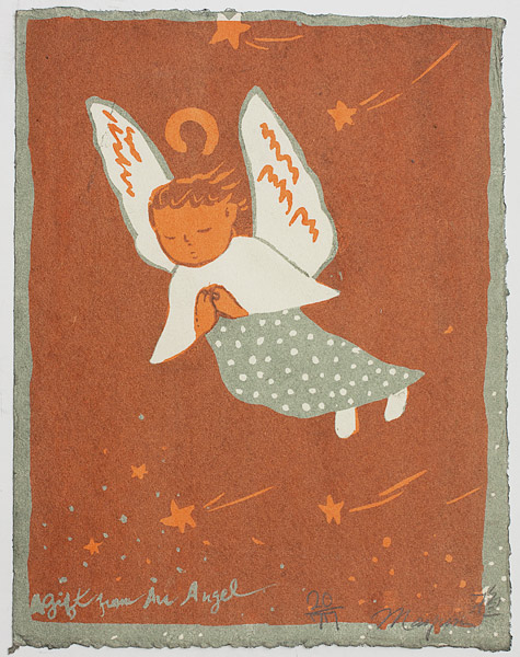 A Gift From An Angel (20/77) by Mayumi Oda(Japanese Print)