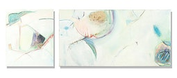 Sky Music (diptych) by Anne Irons