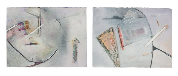 In The Process (Diptych) by Anne Irons(Hawaiian Painting/Drawing)