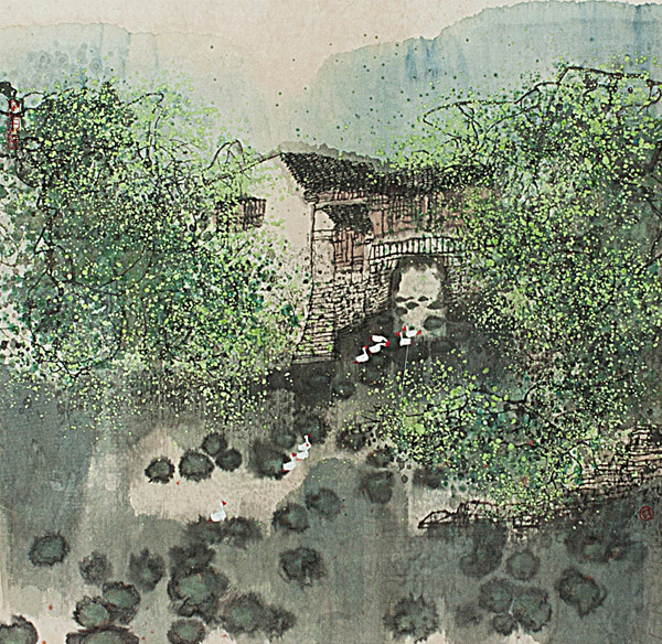 On The River Scene by Zhao Zhun Wang(Chinese Painting/Drawing)
