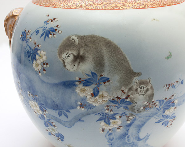 Kutani Monkey Vase(Japanese Functional Object)