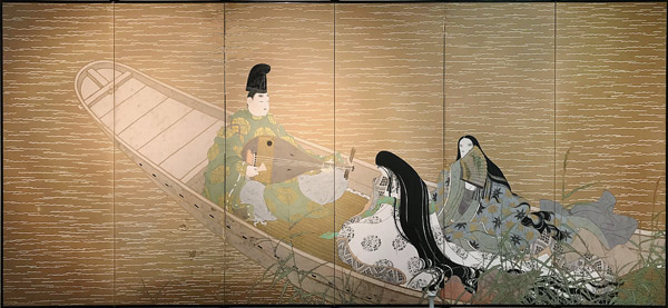 Heian Court Nobles(Japanese Screen)