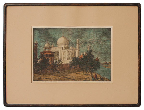 Taj-Mahal From The East (16/75) by Charles W. Bartlett(Hawaiian Print)