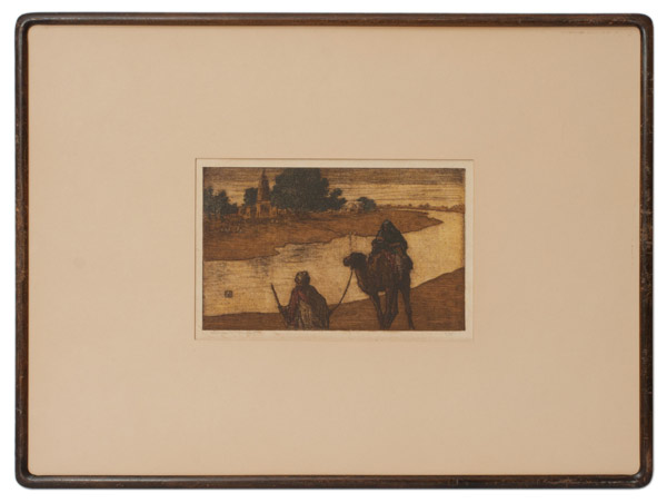 By The Ganges, India (6/75) by Charles W. Bartlett(Indian Print)