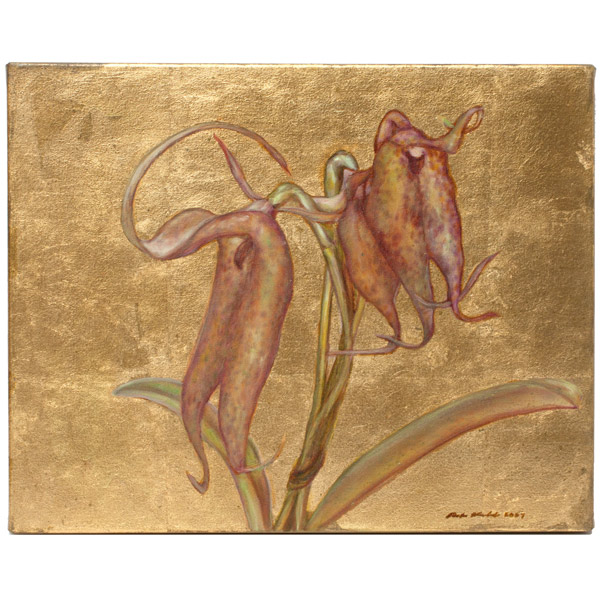 Golden Orchid by Mark Kadota(Hawaiian Painting/Drawing)