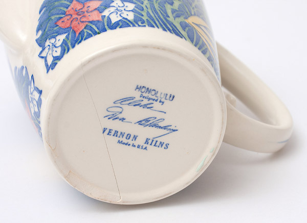Honolulu Pitcher by Don Blanding(Hawaiian Functional Object)