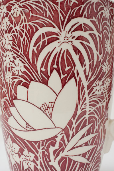 Hawaiian Flowers Pitcher by Don Blanding(Hawaiian Functional Object)