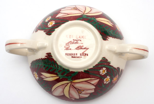 Lei Lani  Bowl by Don Blanding(Hawaiian Functional Object)