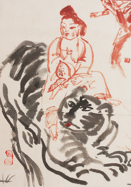 Queen Mother of the West by Mayumi Oda(Japanese Painting/Drawing)