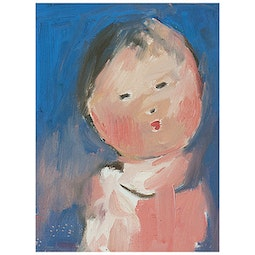 Child with Blue Background by John Young