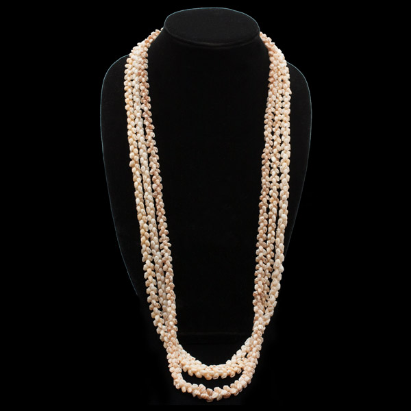 3-Strand Momi Long Ni'ihau Shell Lei(Hawaiian Jewelry)
