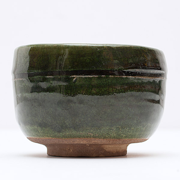 Oribe Tea Bowl (with box)(Japanese Functional Object)