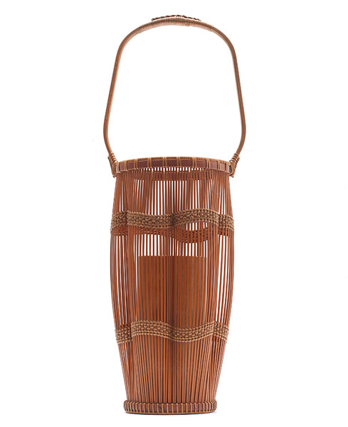 Bamboo Flower Basket (with box) by Kosuge  Kogetsu(Japanese Functional Object)