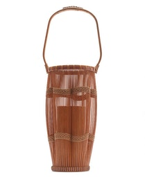 Bamboo Flower Basket (with box) by Kosuge  Kogetsu