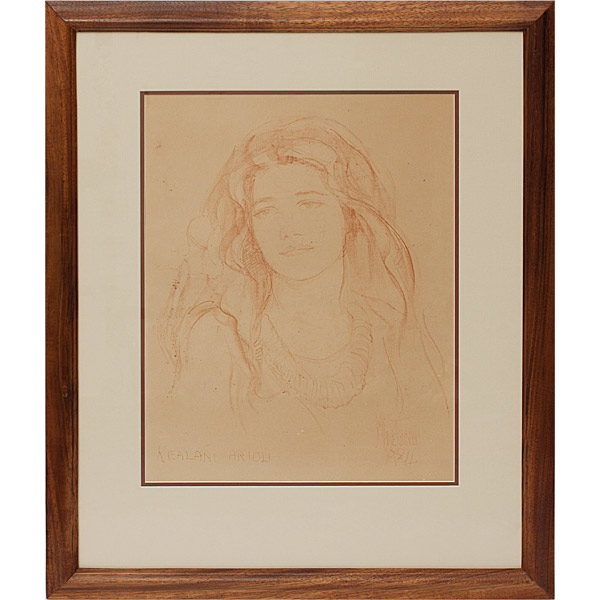 Kealani Ariola Portrait by Madge Tennent(Hawaiian Painting/Drawing)