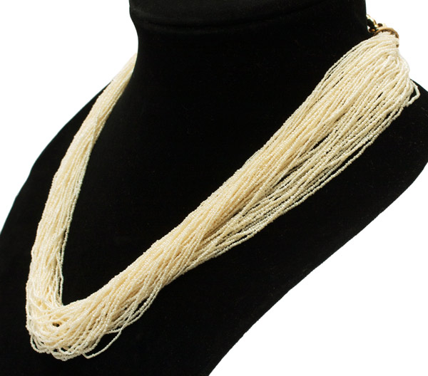 Multi-strand Seed Pearl Necklace(Hawaiian Jewelry)