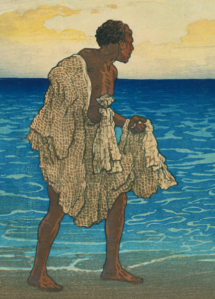 Hawaiian Fisherman by Charles W. Bartlett(Hawaiian Print)