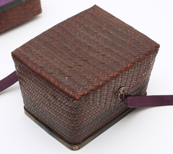 Woven Chabako (with pouch)(Japanese Functional Object)