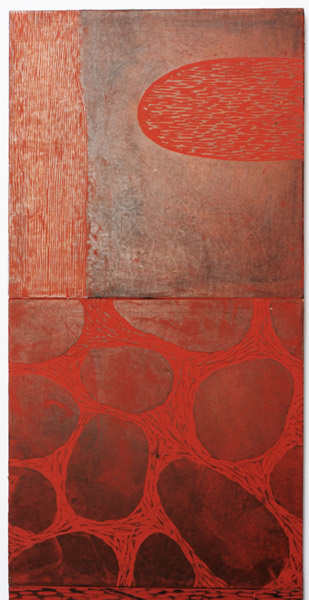 Red Earth (4 panels) by Hiroki Morinoue(Hawaiian Painting/Drawing)