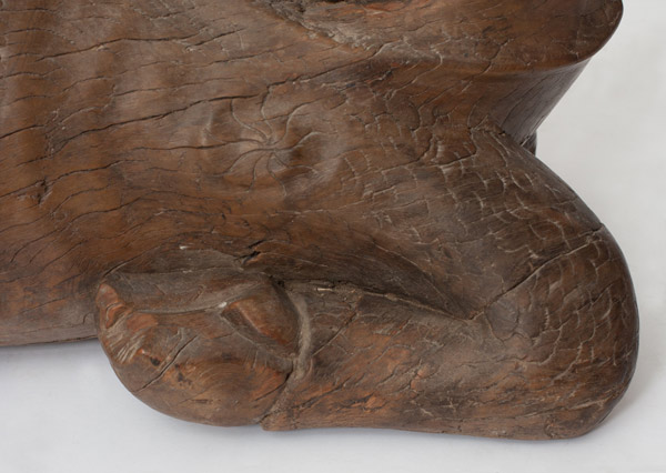 Large Carved Wooden Qilin(Chinese Sculpture)