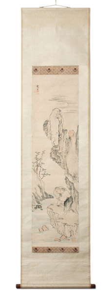Kanzan & Jitoku (with box) by Ikeno Taiga(Japanese Scroll)