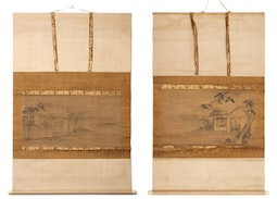Pair of Scrolls (with box) by Morikage Hisazumi