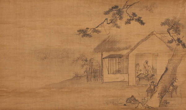 Pair of Scrolls (with box) by Morikage Hisazumi(Japanese Scroll)