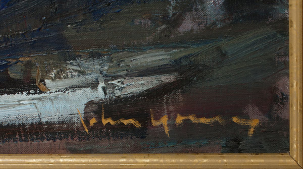 Abstracted Seascape by John Young(Hawaiian Painting/Drawing)