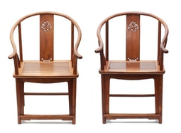 Pair of Huanghuali Chairs