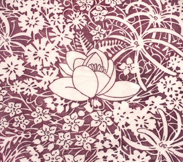 Hawaiian Flowers 14 Inch Charger by Don Blanding(Hawaiian Functional Object)