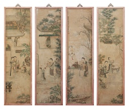 Set of 4 Court Paintings