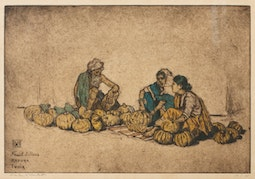 Fruit Sellers, Madura India (54/75) by Charles W. Bartlett