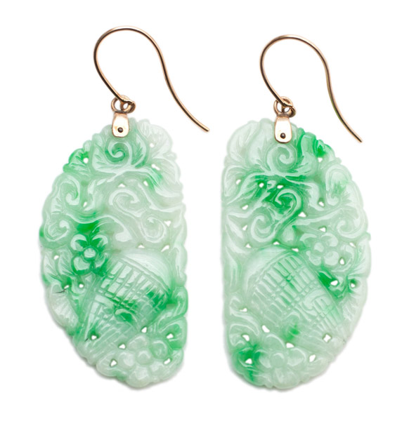 Jadeite Wing Earrings(Chinese Jewelry)