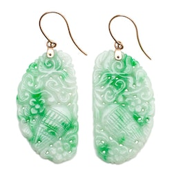 Jadeite Wing Earrings