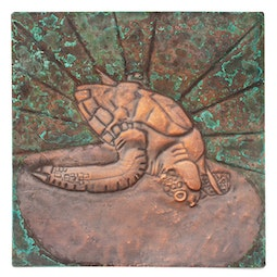 Copper Repousse Turtle Panel by Kazuko Inomata