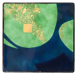 Abstract Enamel Panel by Kazuko Inomata