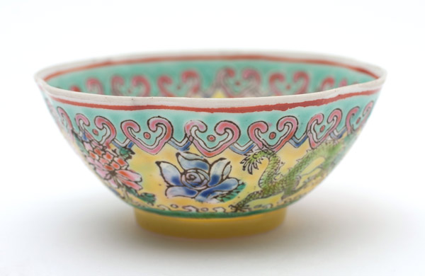 Pair of Over glaze Enamel cups(Chinese Sculpture)
