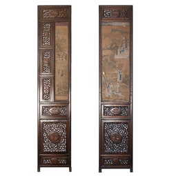 Pair of Decorative Wood Screens