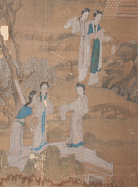 Pair of Decorative Wood Screens(Chinese Painting/Drawing)