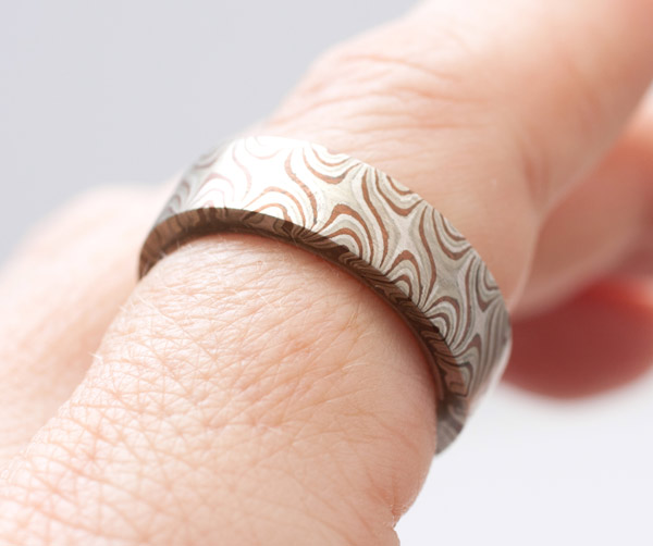 Mokume Gane Ring(Japanese Jewelry)
